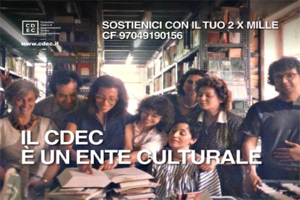 Il 2×1000 alla Fondazione CDEC